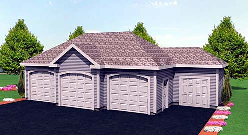 Garage Plan 67295 Elevation