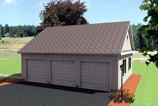 Garage Plan 67296 Elevation