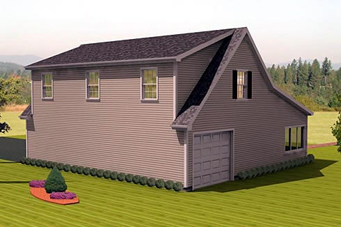 Garage Plan 67307 Rear Elevation