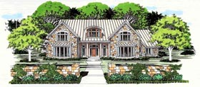 Traditional House Plan 67402 with 5 Beds, 4 Baths, 2 Car Garage Elevation