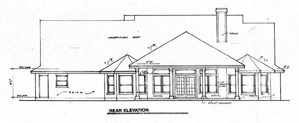 Country European House Plan 67403 Rear Elevation