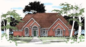 European House Plan 67404 Elevation