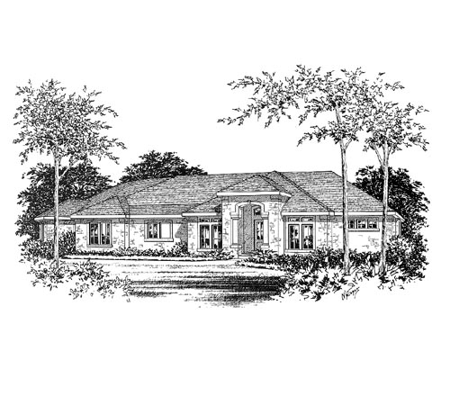 Contemporary , Elevation of Plan 67406