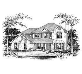 European House Plan 67407 Elevation