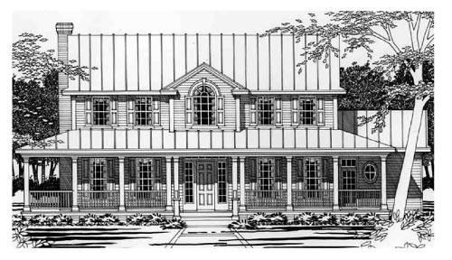 Southern House Plan 67412 Elevation