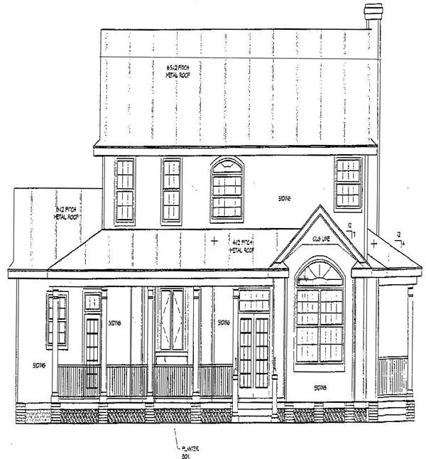 Southern House Plan 67412 Rear Elevation