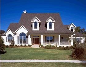 European House Plan 67414 Elevation