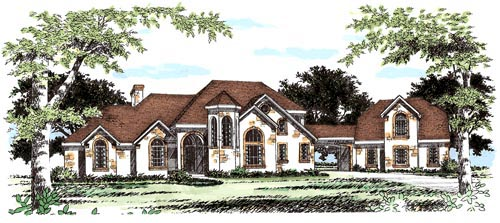 European House Plan 67417 Elevation
