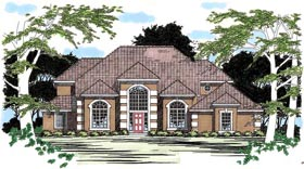 Traditional House Plan 67418 Elevation
