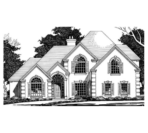 European House Plan 67419 Elevation