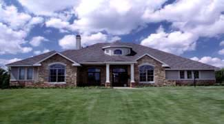 Traditional, House Plan 67420 with 4 Beds, 4 Baths, 3 Car Garage