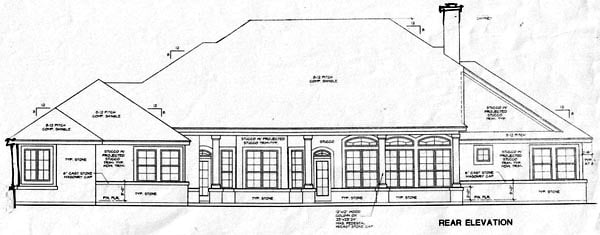 Traditional House Plan 67420 Rear Elevation