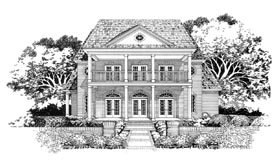 Colonial House Plan 67422 Elevation
