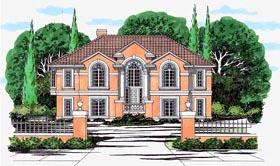 European House Plan 67424 Elevation