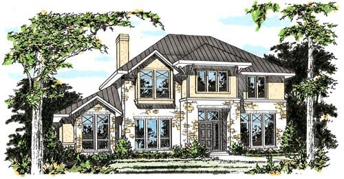 Traditional House Plan 67430 Elevation