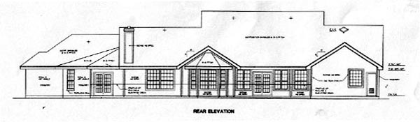 Traditional House Plan 67431 Rear Elevation