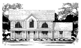 Traditional House Plan 67432 with 4 Beds, 4 Baths Elevation