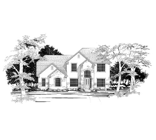 European House Plan 67433 Elevation