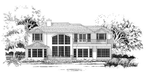 Traditional House Plan 67434 Rear Elevation