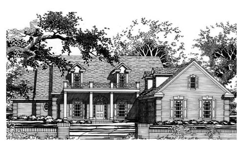 Cape Cod House Plan 67436 Elevation