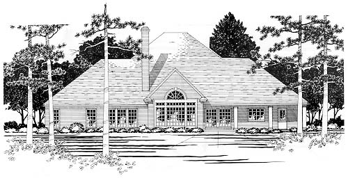 Colonial House Plan 67437 Rear Elevation