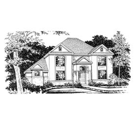 House Plan 67444 | Traditional Style Plan with 3706 Sq Ft, 4 Bedrooms, 4 Bathrooms, 3 Car Garage Elevation