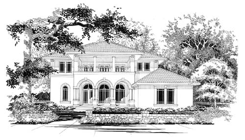 House Plan 67447 | Mediterranean Style Plan with 3894 Sq Ft, 5 Bedrooms, 4 Bathrooms, 2 Car Garage Elevation