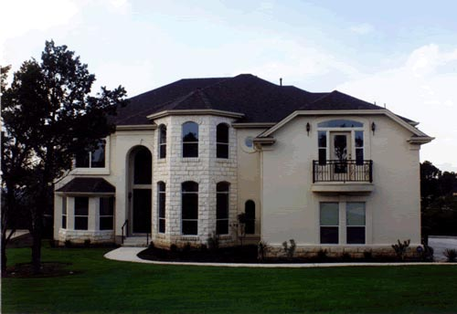 European House Plan 67451 with 4 Beds, 4 Baths, 3 Car Garage Front Elevation