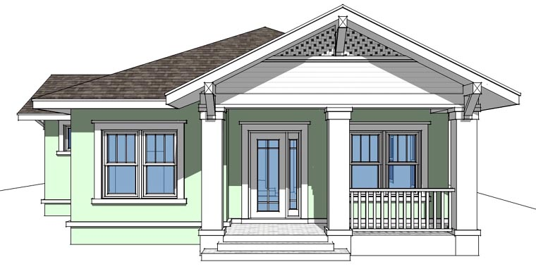 Bungalow House Plan 67500 Elevation