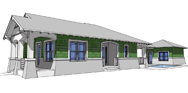 Bungalow House Plan 67501 with 3 Beds, 2 Baths, 2 Car Garage Picture 3
