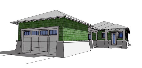 Bungalow House Plan 67501 Rear Elevation