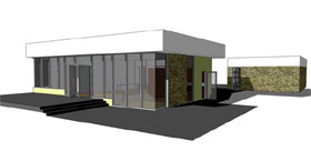 Modern , Contemporary House Plan 67506 with 1 Beds, 1 Baths, 2 Car Garage Elevation