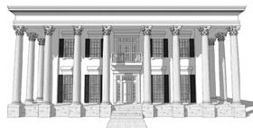 Greek Revival Plantation House Plan 67508 Elevation