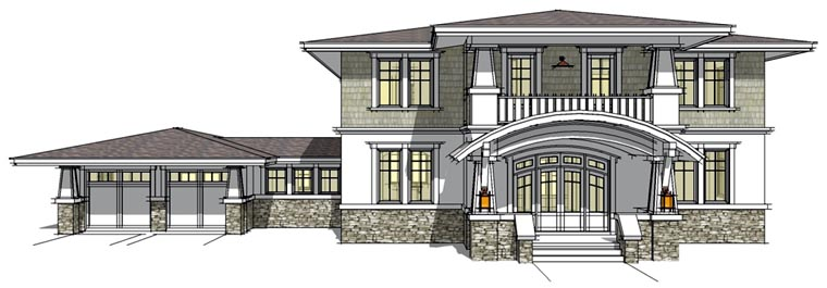 Prairie Style Southwest House Plan 67527 Elevation