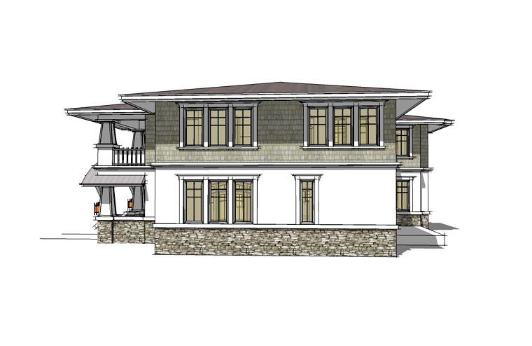 Prairie Style Southwest House Plan 67527