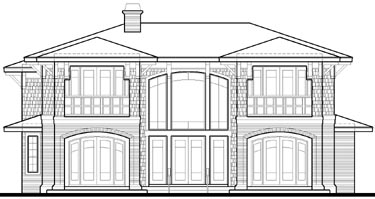 Southwest House Plan 67529 Rear Elevation