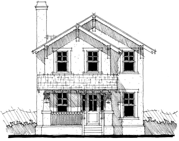 House Plan 67532 | Craftsman Style Plan with 1886 Sq Ft, 3 Bedrooms, 3 Bathrooms, 2 Car Garage Elevation