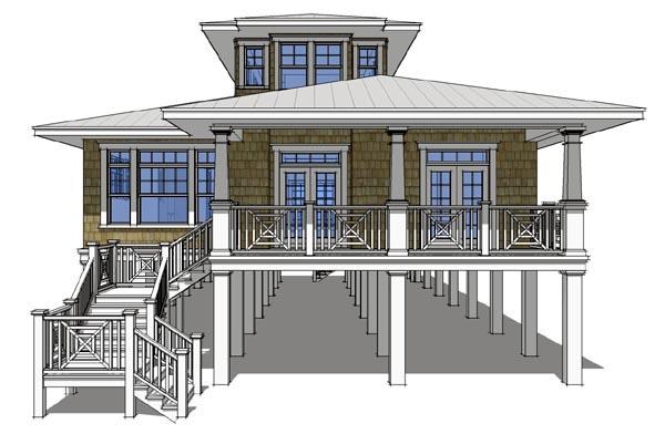 Coastal House Plan 67536 Elevation