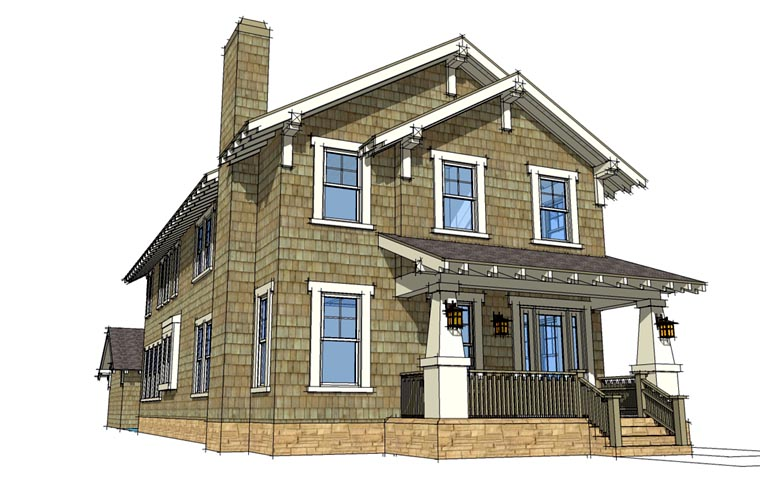 House Plan 67538 Elevation