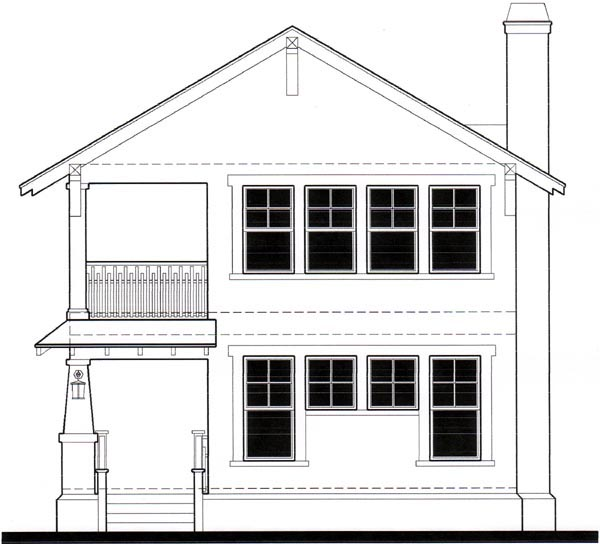 House Plan 67538 Rear Elevation