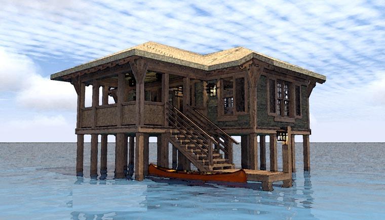Coastal House Plan 67540 Elevation