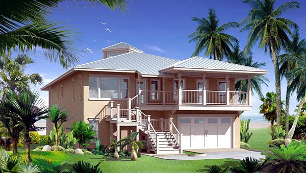 House Plan 67542 | Florida Style House Plan with 3325 Sq Ft, 3 Bed, 4 Bath, 2 Car Garage Elevation