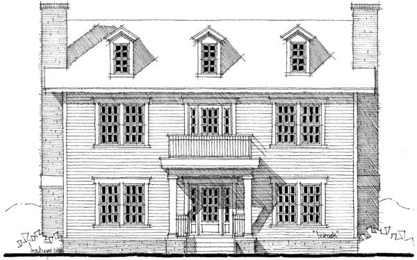 Colonial House Plan 67543 Elevation