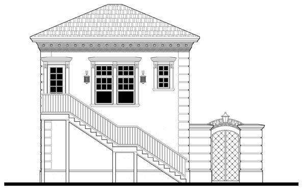 Garage Plan 67548 Rear Elevation