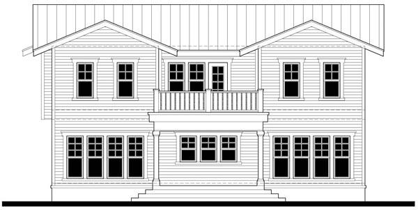 Craftsman House Plan 67552 Rear Elevation
