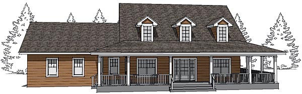 Country House Plan 67555 Elevation