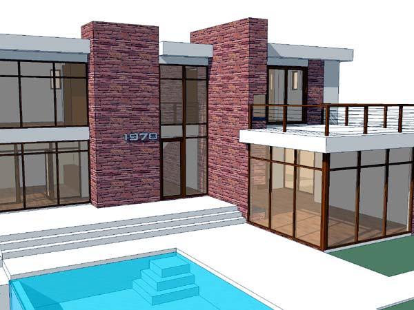 Modern House Plan 67558 Elevation