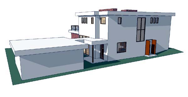 Modern House Plan 67558 Rear Elevation