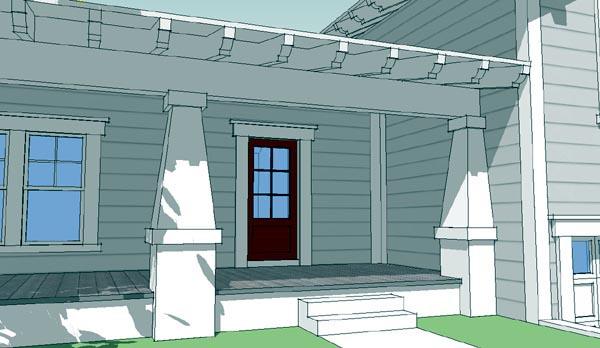 Bungalow Craftsman House Plan 67562