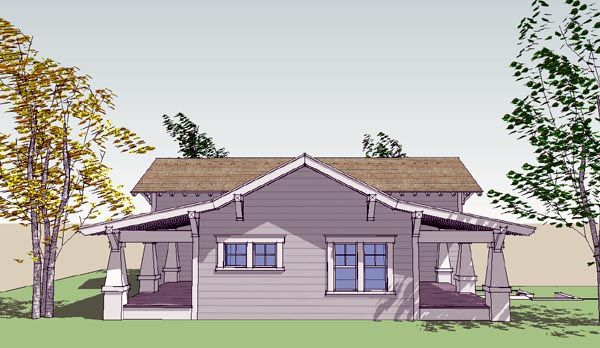 Bungalow Craftsman House Plan 67562